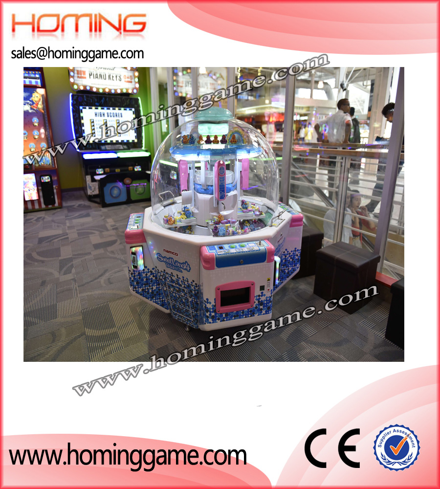 2017 Popular Sweet Land 4 Arcade Candy Redemption Game Machine,sweet land,sweet land 4 game machine,candy game machine,candy prize game machine,prize game machine,arcade candy redemption game machine,game machine,arcade game machine,coin operated game machine,amusement park game machine,indooor game machine,slot game machine,entertainment game,kids game machine