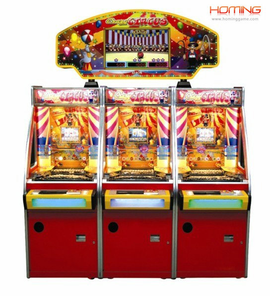 Crazy Circus Coin pusher game machine,coin pusher game machine,3p arcade coin pusher game machine