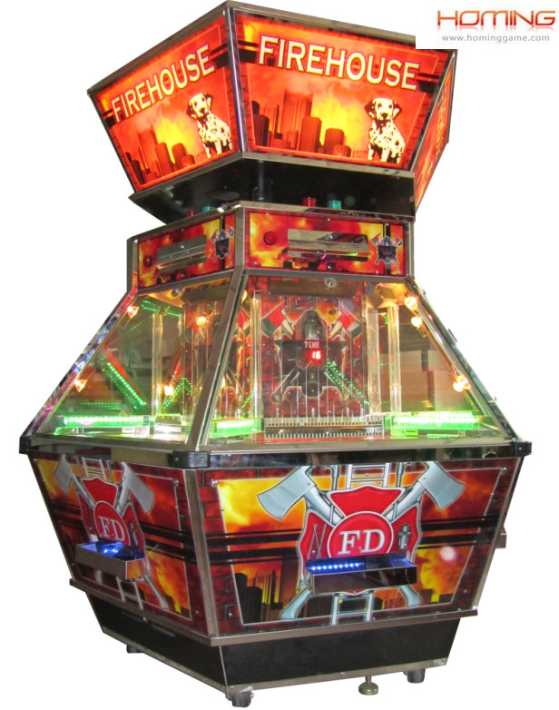 Fire House coin pusher machine ,coin pusher game machine,coin pusher machines,online game coin pushers, good coin pusher game