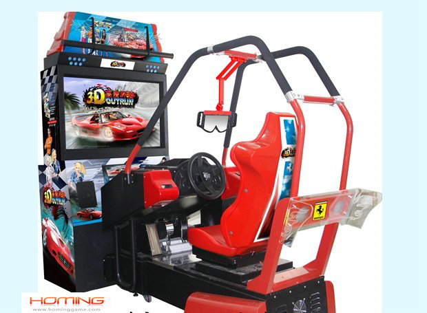 3D OutRun Racing car game (HD),car racing games in an arcade,racing car simulators,game machine,arcade game machine,coin operated game machine