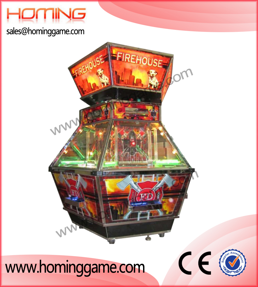 fire house coin pusher game machine,coin pusher game machine,game machine,arcade game machine,coin operated game machine,amusement machine,game equipment,HomingGame