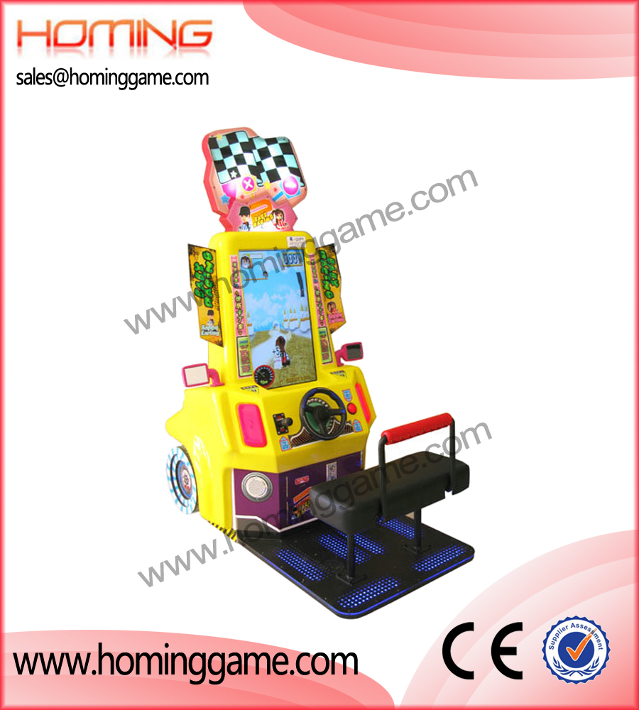Baby Racing Car game II,kiddie rides,coin operated kiddie rides,coin operated game machine,game machine,arcade game machine,game equipment,amusement machine,amusement game equipment
